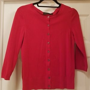 The Limited red cardigan